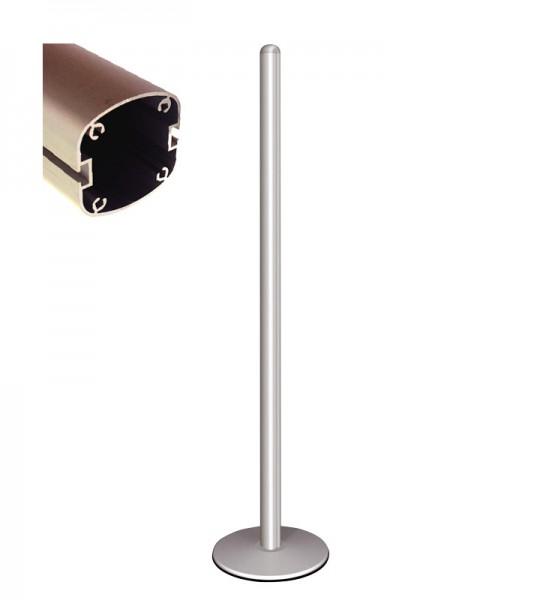 Freistehendes Profil (2 Kanäle) mit Fuß, Alumin