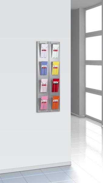 Wand-Prospekthalter artline 4 Fächer DIN lang